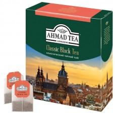 Чай Ахмад Классический черный 100пак *2гр с ярлыком ГОСТ