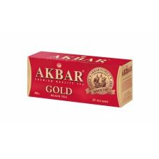 Чай Акбар Голд 25пак с ярлыком Редизайн