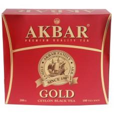 Чай Акбар Голд 2гр 100пак с ярлыком