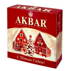 Чай АКБАР классическая серия 100пак черный байховый НОВЫЙ ГОД