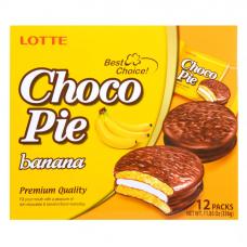Пирожное Lotte Choco Pie банан 336 г (12 штук в упаковке)