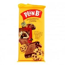 """Шоколад """"PLAN B"""" молочный с печеньем и карамелью 90г"""