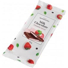 Шоколад молочный с клубничной нугой 85гр