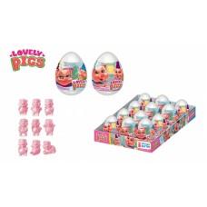 LOVELY PIGS Драже в пластиковом яйце с игрушкой 20грх12шт (ут26592)