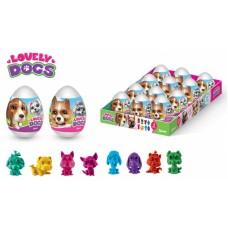 LOVELY DOGS Драже в пластиковом яйце с игрушкой (кхк) 20грх12шт (ут25582)
