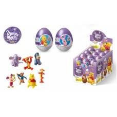 DISNEY ВИННИ ПУХ Шоколадное яйцо с сюрпризом 20гр*24шт (ут27662)