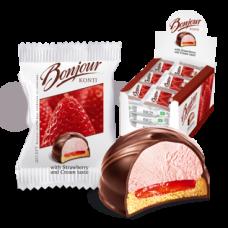 """Десерт """"Бонжур"""" клубника со сливками 29гр * 27шт"""