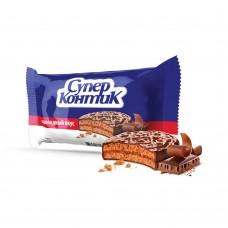 """Печенье-сэндвич """"Супер-Контик"""" в шоколадной глазури 100гр"""