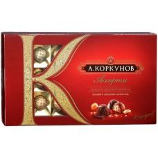 """Конфеты Коркунов """"Ассорти"""" темный и молочный шоколад 192гр"""