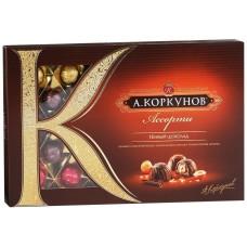"Конфеты Коркунов ""Ассорти"" темный шоколад 256гр"