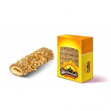 """Вафельные трубочки """"СЛИВОЧНЫЕ"""" глазированные карамельной глазурью с арахисом 3.5 кг"""