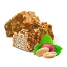 """Вафли """"молочно-шоколадные"""" глазированные карамельной глазурью с арахисом 3кг"""