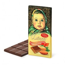 """Шоколад """"Аленка"""" 100 гр миндаль"""