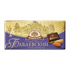 """Шоколад """"Бабаевский"""" 200г горький с целым миндалем"""