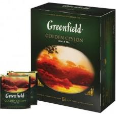 Чай Гринфилд Голден Цейлон черный 100 пак*2гр с/я в конв  (9 шт в кор)