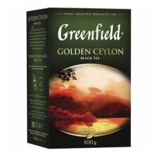 Чай Greenfield Golden Ceylon (Гринфилд Голден Цейлон) черный, крупно-листовой, 100 г(14 шт в кор)