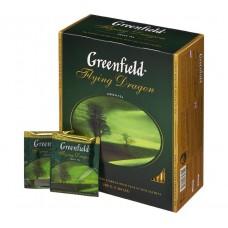 Чай Greenfield Flying Dragon (Гринфилд Флаинг Драгон) зеленый 100 пак (9 шт в кор)