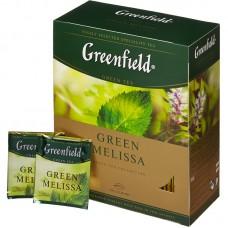 Чай Greenfield Green Melissa (Гринфилд Грин Мелисса) зеленый 100 пак (9 шт в кор)