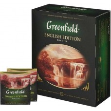 Чай Greenfield English Edition (Гринфилд Инглиш Эдишн) черный 100 пак (9 шт в кор)
