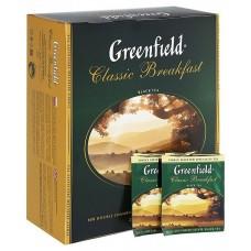 Чай Greenfield Classic Breakfast (Гринфилд Классик Брекфаст) черный 100 пак (9 шт в кор)