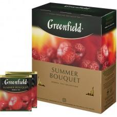 Чай Greenfield Summer Bouquet (Гринфилд Саммер Букет) травяной 100 пак (9 шт в кор)