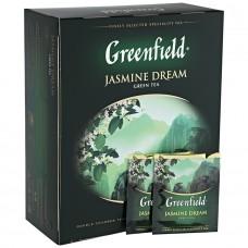 Чай Greenfield Jasmine Dream ( Гринфилд Жасмин Дрим) зеленый 100 пак (9 шт в кор)