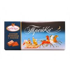 """Шоколад """"Тройка"""" молочный с дробленым фундуком 100г"""