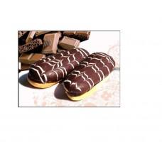 Пирожное Язычок в темной глазури  вес 600гр