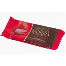 """Шоколад """"Мокко с начинкой клубничная нуга"""" 500 гр"""